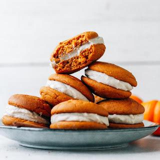 Chai Pumpkin Whoopie Pies (Vegan + Gf).