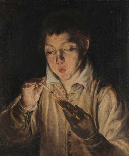 Boy Blowing an Ember