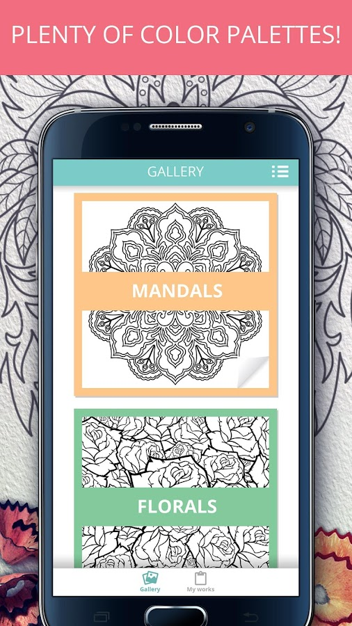 Colory Adults Coloring Book Screenshot