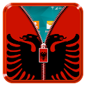 Albania Flag Zipper LockScreen icon