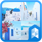Travel to santorini Launcher theme