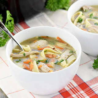 Quick & Easy Homemade Chicken Noodle Soup.