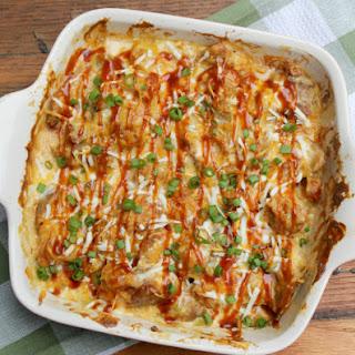Easy Loaded Potato Skin And Chicken Casserole #MomsWingMan