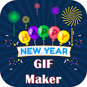 Edit Name on GIF of New Year 2018 icon