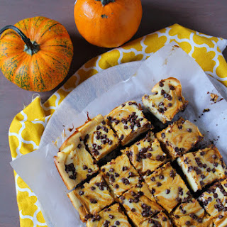 Chocolate Chip Pumpkin Swirl Cheesecake