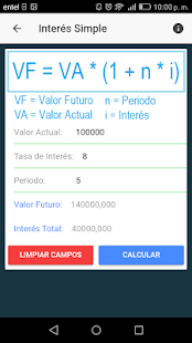 Calculadora Interés Simple y Compuesto - náhled
