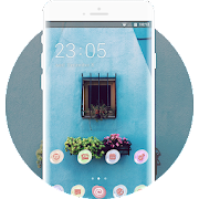 Theme for blue wall spring plant wallpaper icon