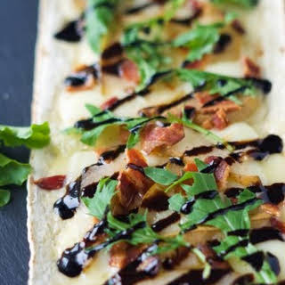 Pear, Brie and Bacon Flatbread.