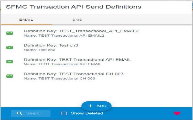 SFMC Transactional API GUI