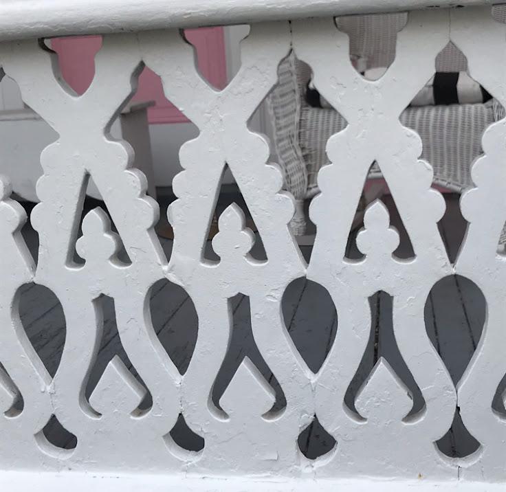 Artistic millwork porch details