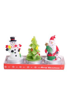 Ljus 3 julfigurer