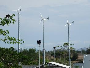 Photo: Small wind turbine for water circulation  กังหันขนาดเล็ก ใช้ในการระบายน้ำ