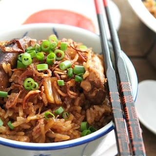 Steamed Glutinous Rice, Lor Mai Fan (糯米飯).