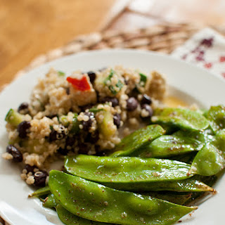 Brown Buttered Snow Peas.