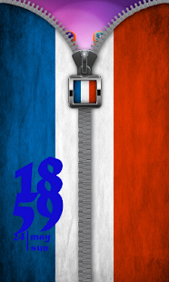 Free France Flag Zip Screen Lock APK