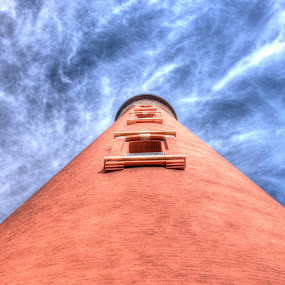 Ponce Inlet Lighthouse by Rob Frederick - Buildings & Architecture Public & Historical ( clouds, tower, lighthouse, park light, historical )