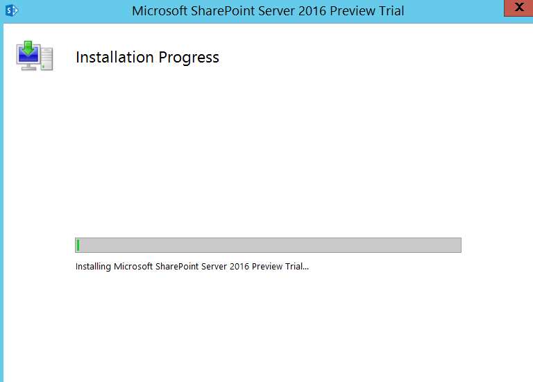 SharePoint 2016 IT Preview Installation