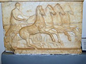 Photo: Relief with Cyrenian horses .......... Reliëf met de paarden van Cyrene