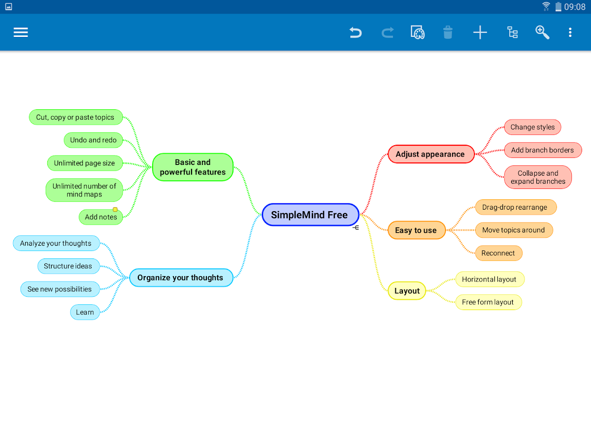 SimpleMind Free - Intuitive Mind Mapping- スクリーンショット