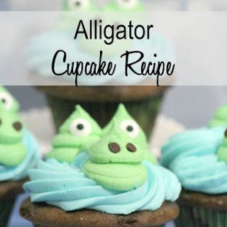 Alligator Cupcakes Recipe or Gator Cupcakes