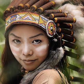 portrait of apache girl  by Amir  Rodof - People Portraits of Women