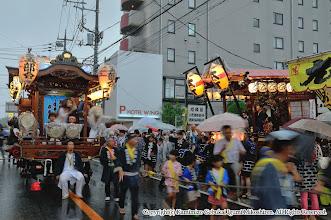 Photo: 【平成20年(2008) 宵宮】  本町の山車と出会う。