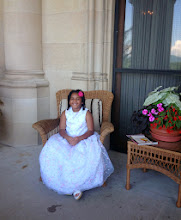 Photo: Princess Kaleya on the Biltmore Estate loggia. See the view in the window reflection?