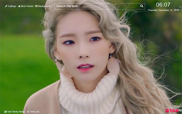 Taeyeon Girls' Generation Wallpaper New Tab