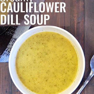 Creamy Cauliflower Dill Soup