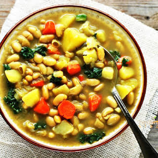 White Bean and Kale Soup (Gluten Free).