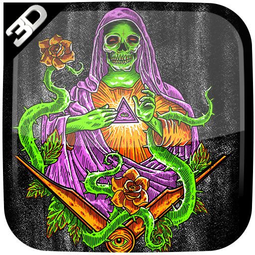 Santa Muerte 3d Live Wallpaper Apps On Google Play