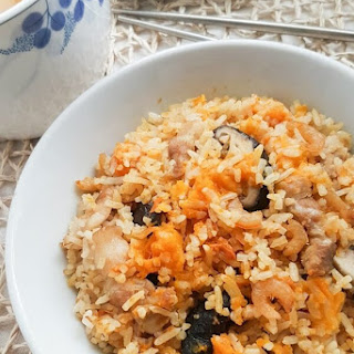 Rice Cooker Pumpkin Rice.