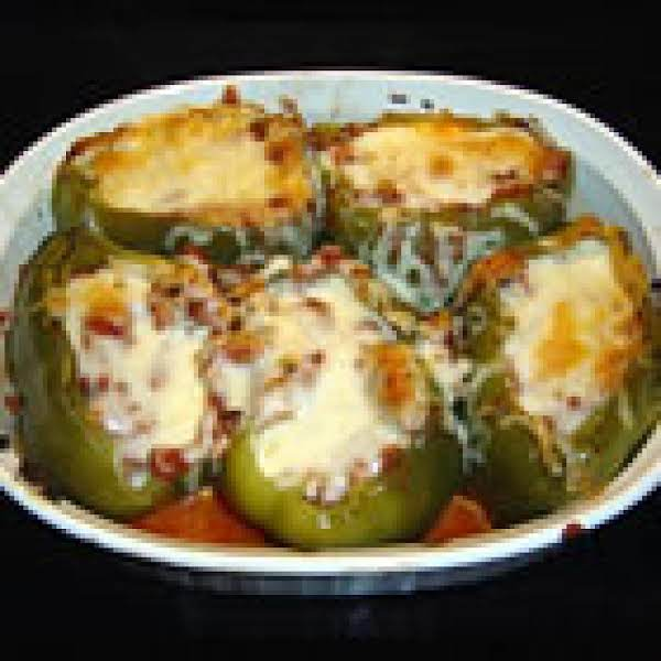 Easy Stuffed Green Peppers Recipe