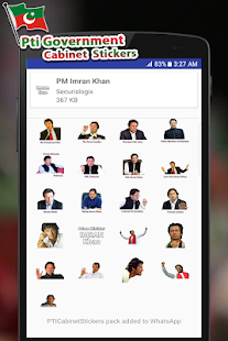 Download PTI Government Cabinet Stickers For PC Windows and Mac apk screenshot 6