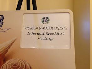 Photo: Women in Radiology Breakfast