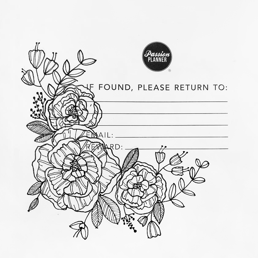 Floral Drawing in Passion Planner