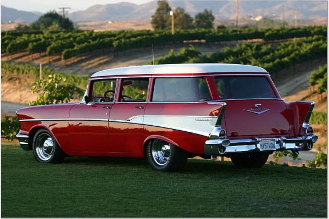 1957 Chevy 9 passenger wagon Hire CA