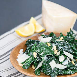 Kale & Parmesan Salad with Lemon Yogurt Dressing