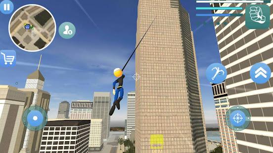 Download Super Stickman Rope Hero Gangstar Crime For PC Windows and Mac apk screenshot 3
