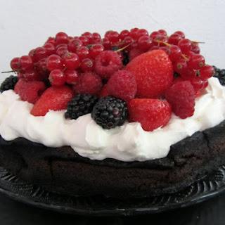 Flourless Chocolate Cake with Berries.