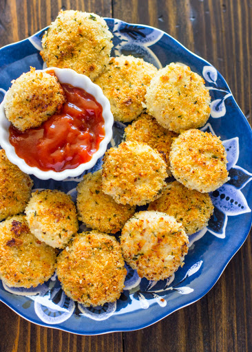 Healthy Baked Parmesan Chicken Nuggets