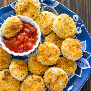 Healthy Baked Parmesan Chicken Nuggets Recipe