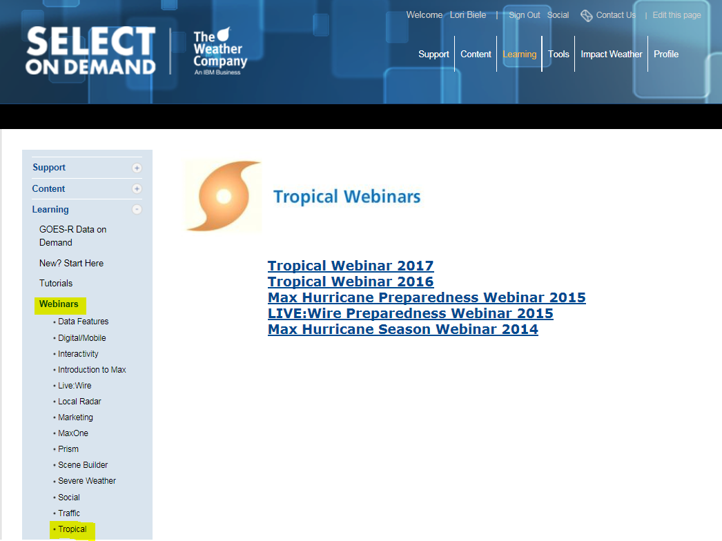 Go to Select On Demand and click learning then webinars