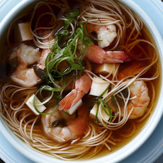 Shrimp and Tofu Noodle Soup.