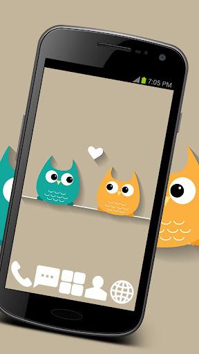 Sweet Owls Theme GO ADW APEX