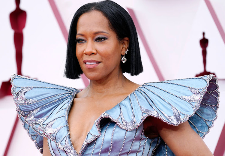 A closer look at the incredible detailing on Regina King's Oscar gown.