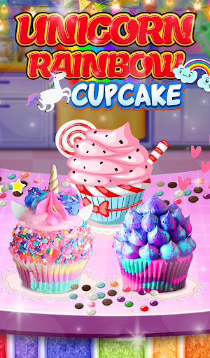 Unicorn Rainbow Cup Cake - Kids Cooking Game image | 7