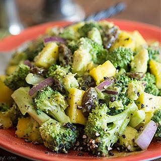 Avocado Mango Broccoli Salad.
