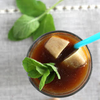 Cold Brewed Mint Chocolate Iced Coffee.