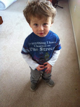 "Photo: Finn's ""Finish Line"" Shoes"
